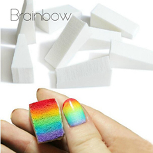 Brainbow 16pcs Gradient Nails Soft Sponge Color Fade Natural Magic Simple Creative Nail Manicure DIY Salon Nail Art Beauty Tools(China)