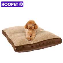 Hoopet All Seasons Pet Suede Mattress Mat Dog Cat Padded Pet Bolster Bed Cushion with Removable Designer Washable Cover