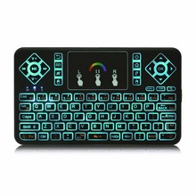 TZ Q9 Mini 2.4GHz Wireless Keyboard RGB Backlight Function Touchpad for Windows Android Google Smart TV Air Mouse Mini Teclado