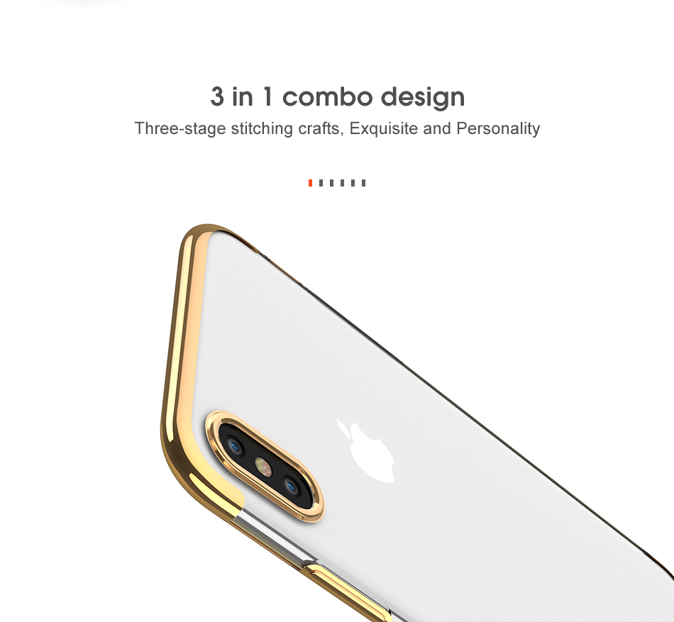 FLOVEME Luxury Plated TPU Case For iPhone X 10 Transparent Ultra Thin Silicone Cover For iPhone 7 6 6S Plus Phone Accessories 8