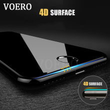 VOERO 4D Explosion Proof  Full Cover Screen Protector For iPhone 7 6 Plus Tempered Glass For iphone 7 6S Plus Protector glass