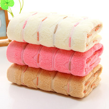 1pcs Pink Multicolored Cute Water Pattern Cotton Towels Thick Domestic Advertising Gift Embroidered High Quality Soft Face Towel(China)