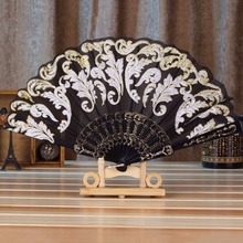 1pcs Vintage Fancy Dress Costume 7 Styles Chinese Costume Party Wedding Dancing Folding Lace Hand Fan Free / Drop Shipping