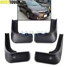 Set Molded Car Mud Flaps For Toyota Camry 2015 2016 2017 Mudflaps Splash Guards Mud Flap Front Rear Mudguards Fender Accessories(China)