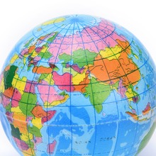 New Brand Earth Globe Stress Relief Bouncy Foam Ball Kids World Geography Map Ball