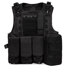 Hunting Tactical Vest Outdoor Camouflage Army Military Body Armor Sports Wear Hunting Black Vest Swat Molle CS Vest for Hunter