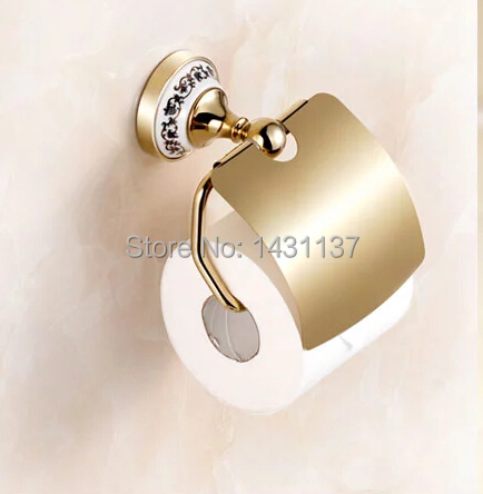 fashion High quality wall mount Paper holder,brass material gold  finish,Bathroom Accessories<br><br>Aliexpress