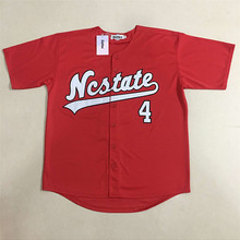 #4 Dennis Smith JR. Men's baseball Jersey NC State Wolfpack College Jerseys Sports All Stitched Team Color Red White Jerseys(China)