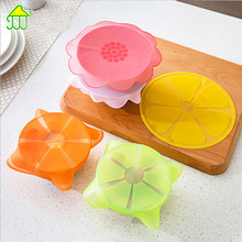 5pcs Set Silicone Food Wrap Reusable Seal Cover Stretch Fresh Keeping Kitchen Liquid Drinks Fresh Film Recycle drop ship(China)