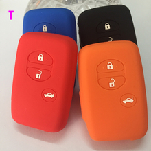 New Silicone Car Key Cover silicone car key cover case keychain key  for Toyota Camry COROLLA Vios REIZ Highlander CROWN