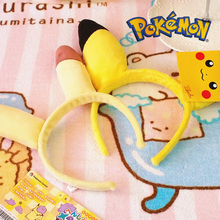 Pretty Cute Hairbands Women Pokemon Go Pikachu Cartoon Velvet Headbands Halloween Party Cosplay Hair Accessories for Female
