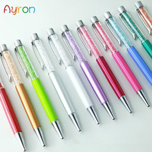 Ayron 1 pcs Crystal Pen Diamond Ballpoint Pens Stationery Ballpen Caneta Novelty Gift Zakka Office Material School Supplies(China)