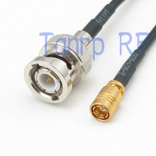 50CM Pigtail coaxial jumper RG174 extension cord cable 20in BNC male plug to SMB female jack RF connector adapter