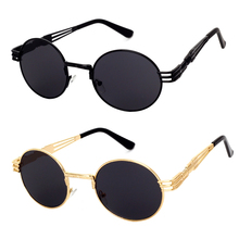 The latest styles of men and women general fashion sunglasses retro round metal colorful mirror Prince personality trendsetter g