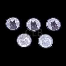 Wholesale Elizabeth II NIUE 2014 Silver Plated Metal Coin Cute Animal Design 2 Dollars Challenge Coins with Plastic Case(China)