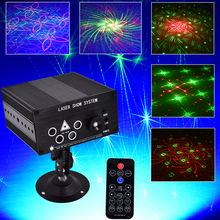 Laser Lights Led Projector 96 Patterns DJ Stage Party Lighting 5 Sources Apertures Lens Red Green Blue Auto Sound Activated(China)