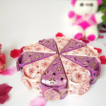 2017New10Pcs/set Hollow Cake Triangle Sugar Box Party Wedding Decoration Gift Marry Supplies Candy carton B2071