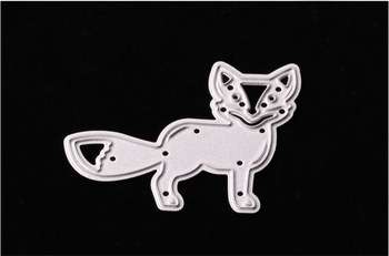Fox Metal Cutting Dies Stencil DIY Scrapbooking Decorative Craft Photo Album Embossing Folder Paper Crad