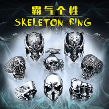 Beier new store 316L Stainless Steel high quality Drop Ship A variety of Skull Big Punk Biker Ring fashion jewelry LLBR8-414R(China)