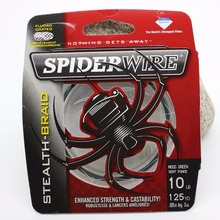 spiderwire fishing line STEALTH-BRAID ENHANCED STRENGTH CASTABILITY Color-Lock coating technology Dyneema PE smooth and round