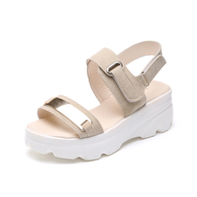 Hot Summer Women Sandals Fashion Superior Quality Comfortable Wedges Women Sandals For Lady Shoes High Platform Black Beige Shoe