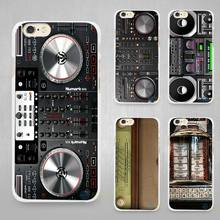 DJ Radio Old Hard White Cell Phone Case Cover for Apple iPhone 4 4s 5 5C SE 5s 6 6s 7 8 Plus X(China)