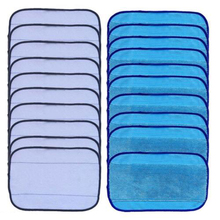 20pcs/lot Washable Reusable Replacement Sweeping Mopping Cloths 10 Wet +10 Dry Microfiber cleaning cloth cleaning pad