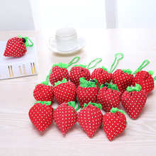 10 candy color New top sale Eco Storage Handbag Strawberry Foldable Shopping Bags Beautiful Reusable Bag for daily shopping SH01(China)