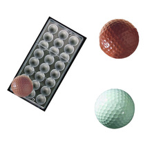 Golf Ball sports Polycarbonate Chocolate Mould PC Mold Sugarcraft Suger Craft tools(China)
