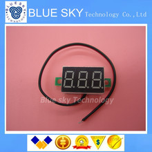Green Second line precision dc digital voltmeter head LED digital voltmeter DC4.5V-30V