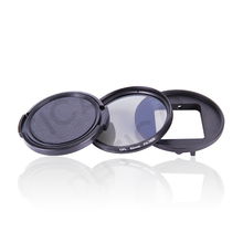 PHTICAL 52mm CPL Filter For GoPro Hero 5 Camera Body + Lens Adapter Ring + Lens Cap Set Action Camera Filter Go Pro Accessories