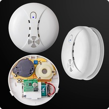 Wireless Smart House Sensitive Photoelectric Smoke Detector Fire Sensor Cordless For GSM Security Home Alarm System(China)