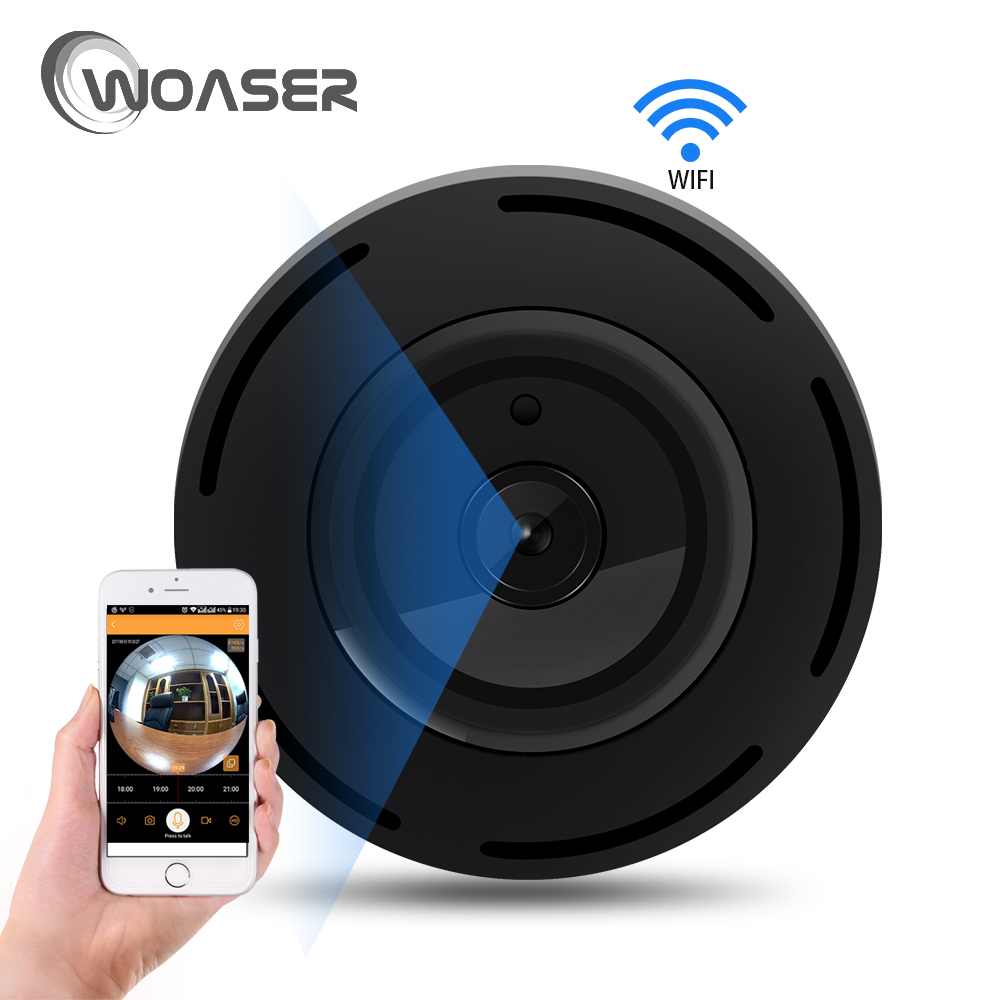 WOASER 960P TF Card Slot Waterproof Infrared 360 Degree Day Night Vision IP Camera WiFi Wireless HSurveillance Mini Body Camera<br>