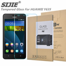 SIJIE Tempered Glass For HUAWEI Y635 0.26mm Screen Protector front stronger 9H thin discount with Retail Package Hard BOX save