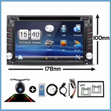 Car Electronic Double 2 Din Car DVD Multimedia Player Auto Radio GPS In Dash Car PC Stereo Video Free Map Free Camer RDS 178*100(China)
