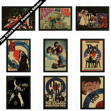 Rock band The Who art Fan children retro nostalgia kraft poster decorative painting wall sticker