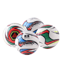 Soccer Balls Official Size PU Material Leather Soccer Ball Adhesive Stickers Football Balls Suitable Outdoor Cool Colorful Ball