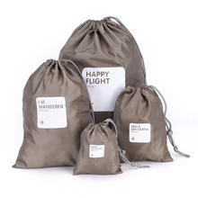 4 PCS/1set New Clothes Storage Bag Waterproof Travel Drawstring Storage Bag Shoe Laundry Lingerie Makeup Luggage Organizer Pouch
