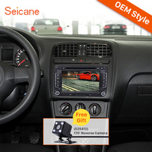 Seicane 2 Din Universal DVD Player GPS Navigation Car Stereo for 2009-2013 VW Volkswagen Polo V 6R Bluetooth SD Support Aux IPOD(China)