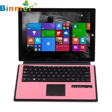 Binmer Mecall Tech Wireless Bluetooth keyboard Case Touchpad for Microsoft Surface 3 10.8 inch Free Shipping
