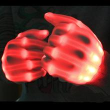 Pair of LED Lighting Gloves Flashing Fingers Rave Gloves Colorful Gloves for Light Show (Red)(China)