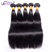 Straight Hair Bundle Peruvian Hair Can Buy 4 / 3 Bundle 10-28 inch 1 Pc Non Remy Le Moda Hair Weave Extension Human Hair Bundle(China)