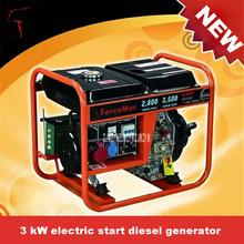 New Hot AD3500 3KW Electric Start Diesel Generator 220v/380v 50Hz/60Hz Large Truck Generator Small Household Diesel Generator(China)