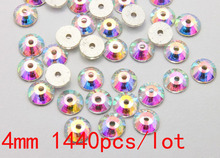sew on non hotfix rhinestone with one hole ss16 crystal AB 1440pcs/lot can be glued on or sewed on clothes CPAM Free(China)