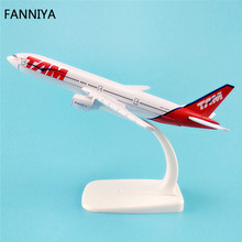 16cm Alloy Metal Brazil AIR TAM Airlines Boeing 777 B777 Airways Airplane Model Plane Model W Stand Aircraft  Gift