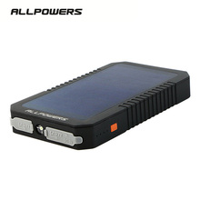 Allpowers 12000mAh Portable Mobile Solar Power Bank Charging Battery Charger Waterproof Dual USB External Battery Pack for Phone