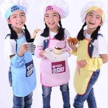 2017 Cartoon Junior Chef Pattern Child Apron Children Eating Painting Anti-oil Pollution Kids Apron Kit Tablier Enfant Delantal