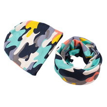 cotton baby Kids hat scarf set high quality boys girls kids scarf infant hats child caps scarf baby cap
