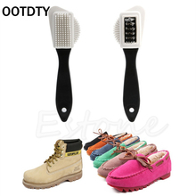 OOTDTY 3-side Cleaning Brush Kit For Suede Leather Nubuck Shoes Boot Cleaner Stain Dust HXP001