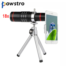 Powstro Mobile Phone Telescope 18X Optical Zoom Telescopes Phone's Camera Lens With Tripod For iPhone iPad Samsung HTC Tablet